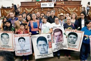 Family members and supporters of the missing 43.