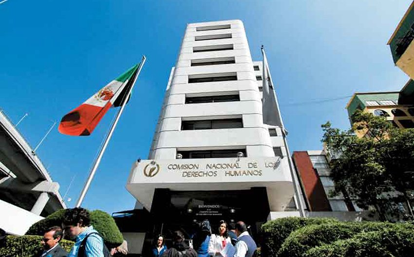 Human Rights Commission headquarters in Mexico City.