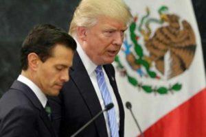 Peña Nieto and Trump in Mexico City in 2016