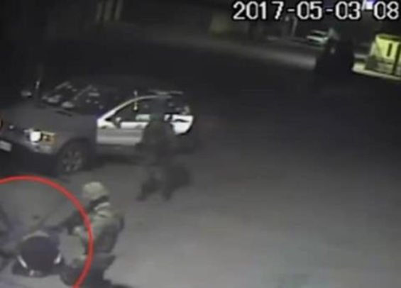 Clip from video footage of the confrontation in Puebla last year.