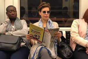 Karime Macías was photographed earlier this month while riding the subway in London, England.