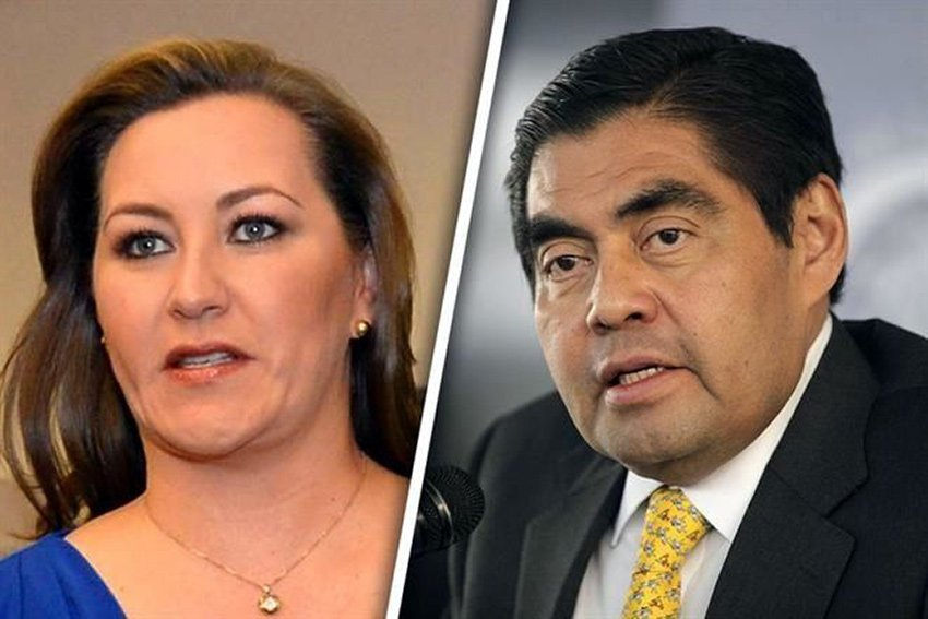 Puebla candidates for governor Alonso and Barbosa.