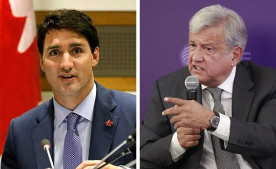 Trudeau, left, and AMLO
