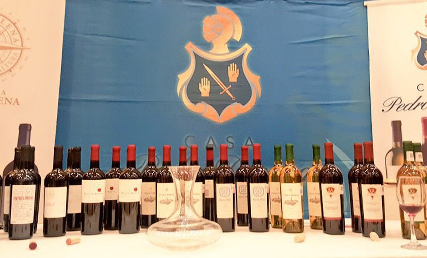 A display of wines at the festival now running in Mexico City.