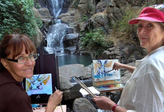 Painting Los Azules Falls near Tequila.