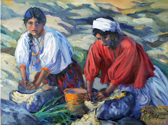 Grinding Corn by Ilse Hable.