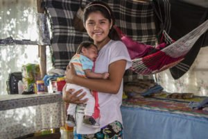 Lots of young mothers in Mexico.