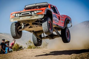 A truck gets air during last year's Baja 1000.