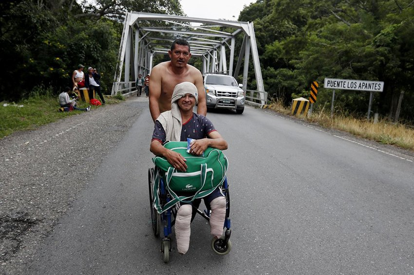 Wheelchair-bound migrant lost his legs the last time he attempted to enter the US