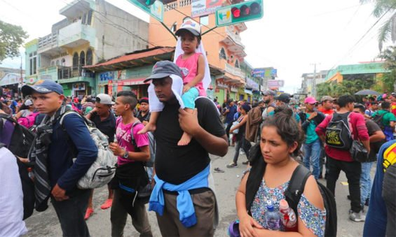 Central American migrants arrive in Mexico today.