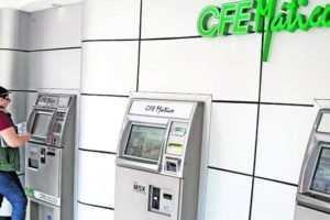 CFE bill payment terminals: many customers simply don't pay.