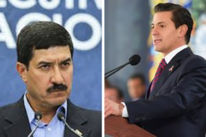 Anti-corruption crusader Corral, left, and Peña Nieto, who is seeking legal protection.