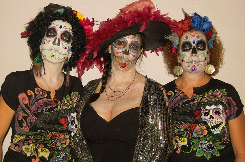 Dressed for Halloween? No, Day of the Dead.