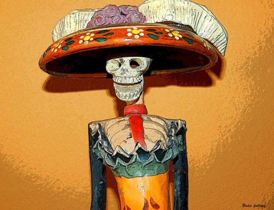 The skeletal Catrina.