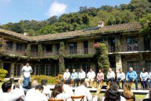 Yesterday's ceremony at El Faunito.