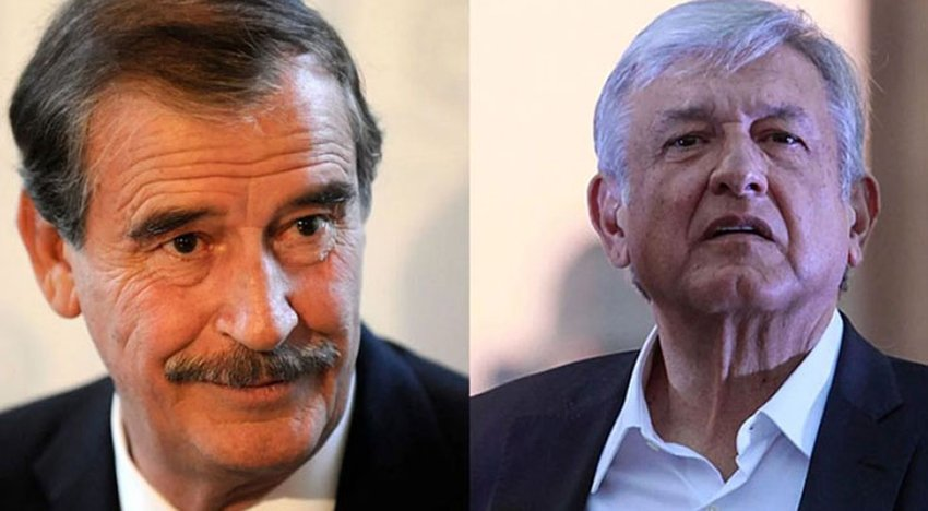Fox, left, says yes to fracking. AMLO says no.