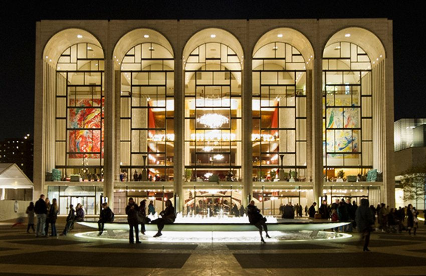 The Metropolitan Opera House in New York.