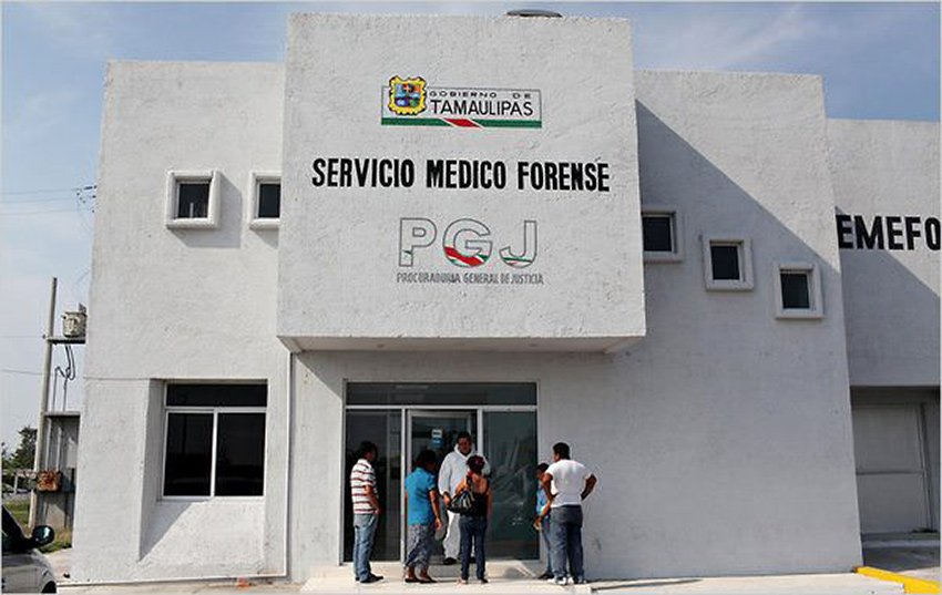 A morgue in Tamaulipas: 'more like a bunker.'