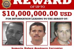 The reward poster for the Jalisco cartel leader.