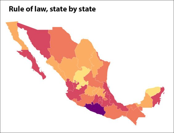 mexico states rule of law index