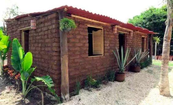 Sargassum house in Quintana Roo.