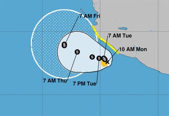 Tara's forecast track.