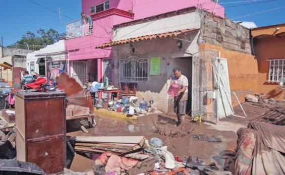 Flood damage in Tuxpan, Nayarit.