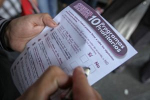Nearly one million people cast a ballot during the weekend consultation.