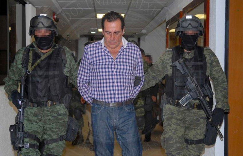 Beltrán Leyva at his arrest in 2014.
