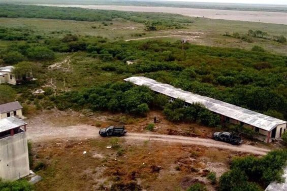 A narco-camp found last year in Matamoros.