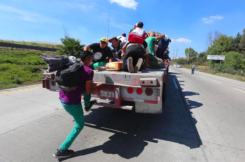 Migrants' northward journey continues.