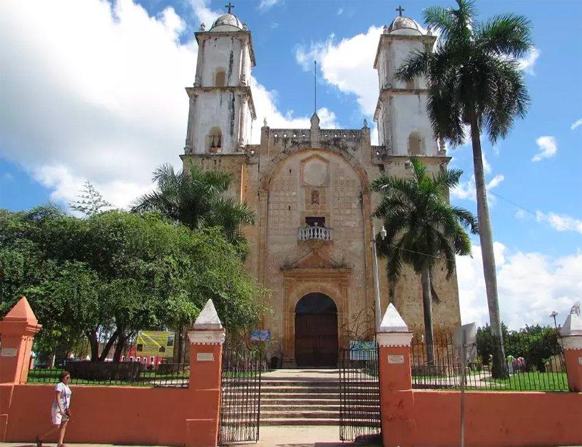 The unique church in Peto, Yucatán.