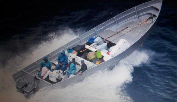 Cocaine smugglers head for the beach.