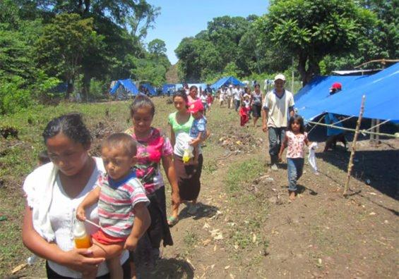 Displaced citizens in Guerrero.