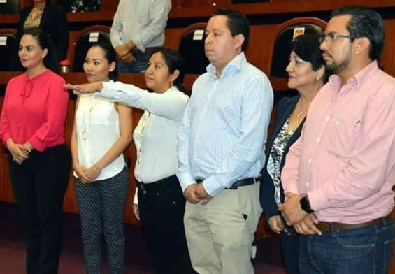 Lorenzo is sworn in as mayor of one of Guerrero's poorest municipalities.