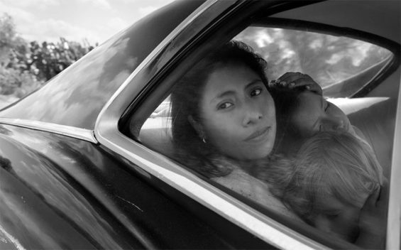 Aparacio in a scene from the film Roma.