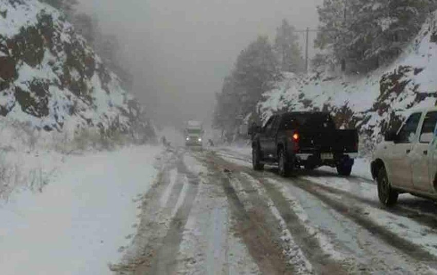 Winter has arrived in higher regions of Chihuahua.