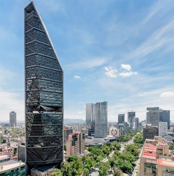 The Torre Reforma was awarded for its intelligent design.