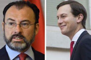 Videgaray, left, and Kushner, praised for trade deal.