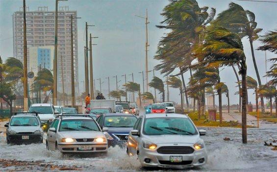 Stormy weather in Veracruz.