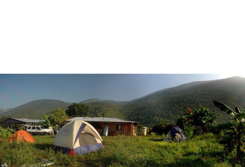 Camping at Rancho el Zapote.