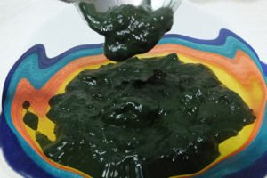 The blue-green slime is good for you.