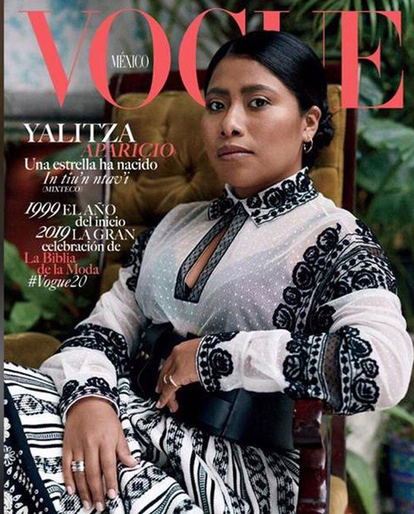 Oaxaca actress Aparicio on Vogue's January cover.
