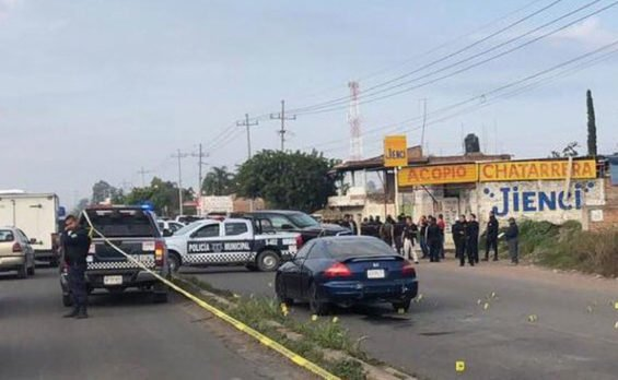 Scene of this morning's ambush in Jalisco.