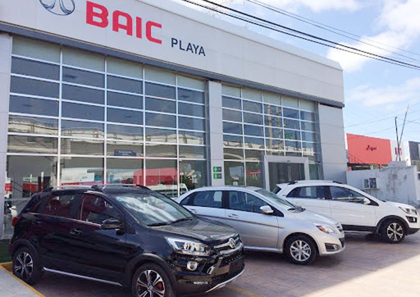 A BAIC dealership in Playa del Carmen, Quintana Roo.