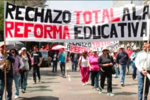 One of many marches held to protest the 2012 education reform.