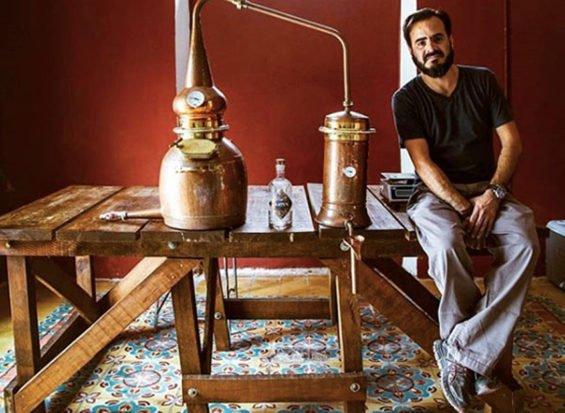 Brinkman, distiller of Yucatán gin.