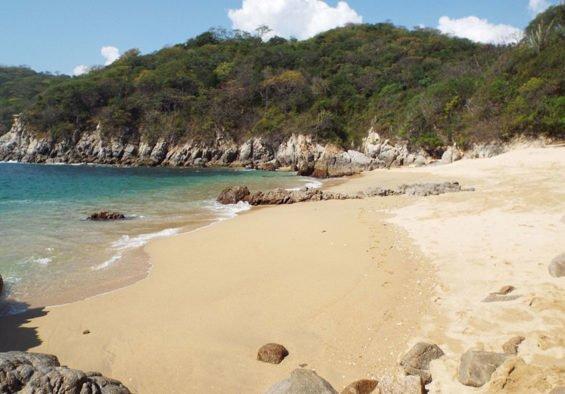 Peaceful Violin beach in Huatulco.