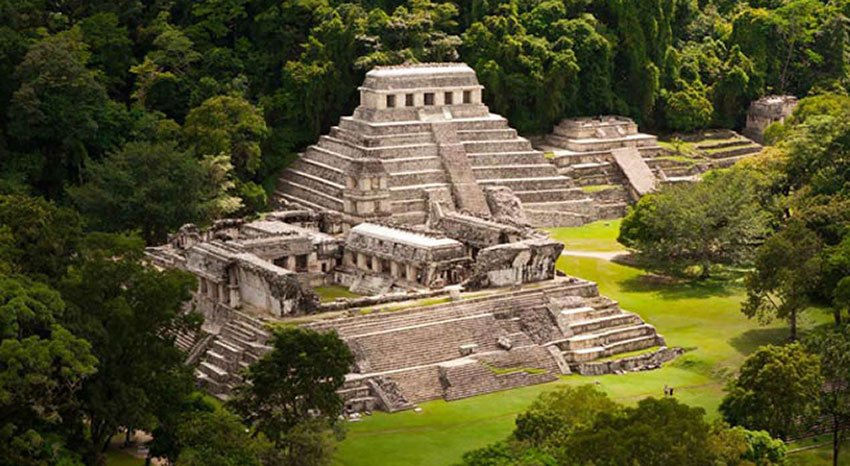 The archaeological site at Palenque, which had been slated to become one of three sustainable tourism centers.