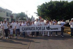 A peace march in Guadalajara in 2015.